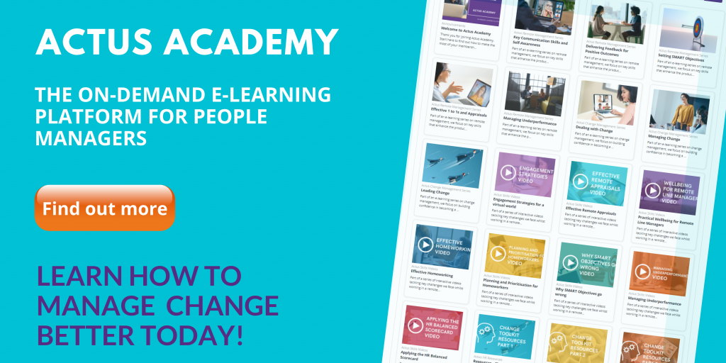E-learning for Change Management