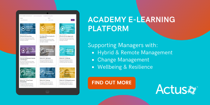 Actus Academy E-Learning for Hybrid Managers
